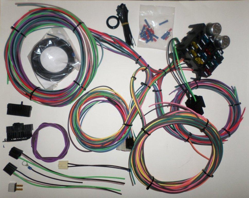 12 Circuit Ez Wiring Harness Chevy Mopar Ford Hotrods