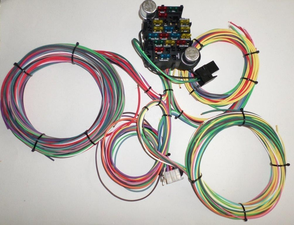 ez wiring harness kit universal 21 circuit ez wiring harness for chevy mopar ford hotrods  universal 21 circuit ez wiring harness
