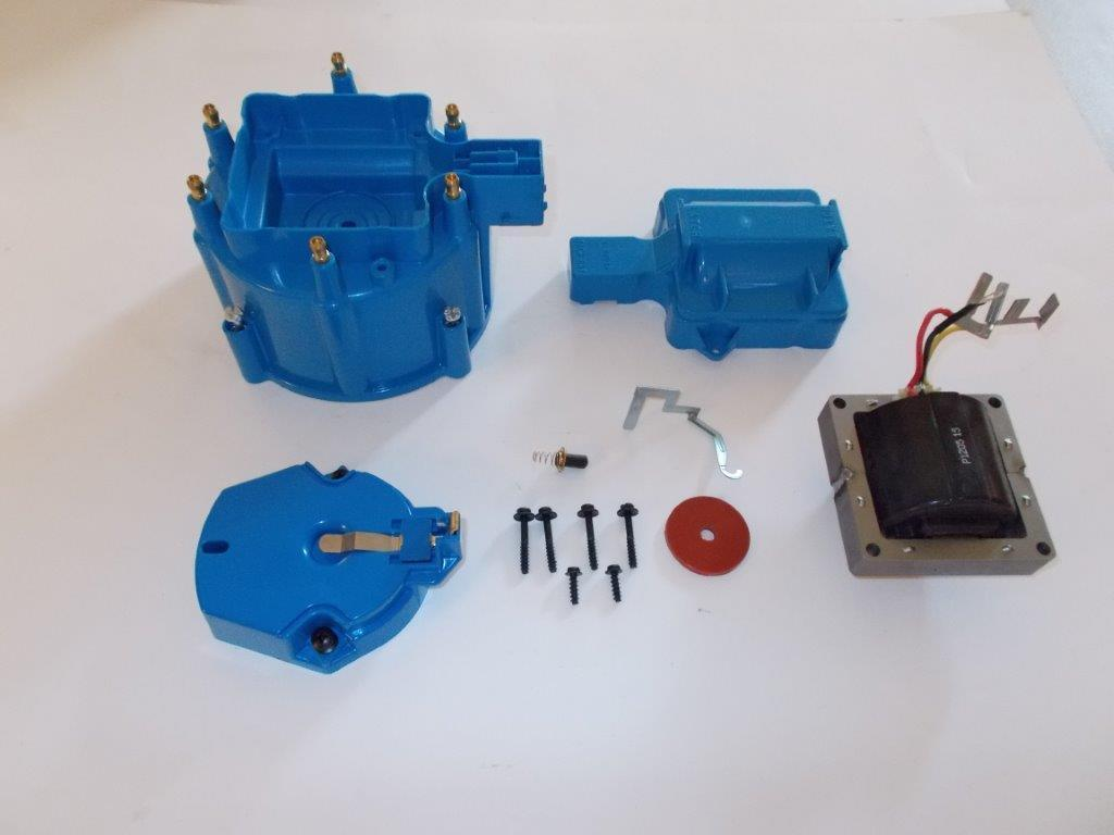 6 Cylinder Blue Hei Distributor Cap Coil Cover Amp Rotor