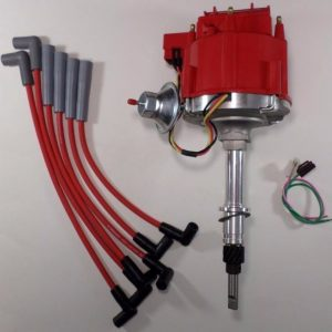 AMC JEEP Inline 6 cylinder Distributor with spark plug wires