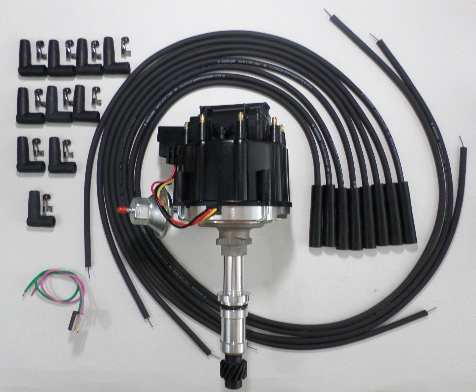 [QMVU_8575]  BUICK Small Block 340 350 Black Cap HEI DISTRIBUTOR Black Spark Plug Wires  USA - SwapMeetParts | Wiring A Coil For A 1968 Buick 350 |  | SwapMeetParts