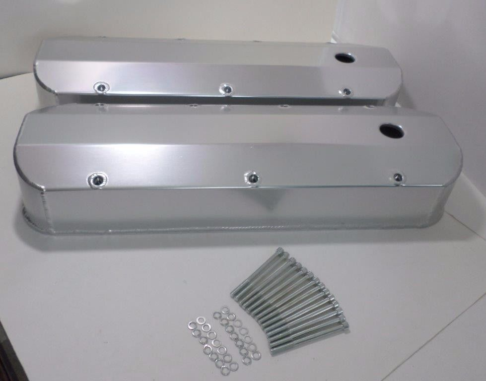 Big Block Chevy 396-427-454 TALL Fabricated ALUMINUM Valve Covers w/ Long  Bolts
