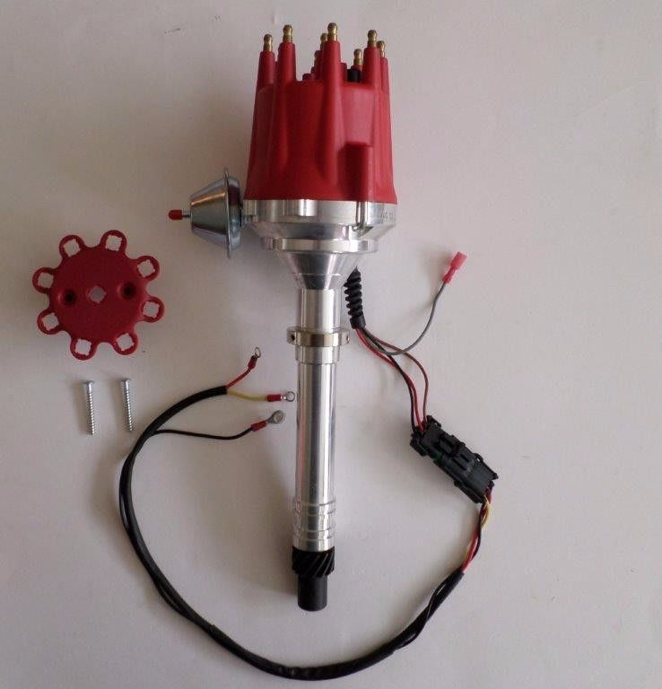 RED Small /& Big Block Chevy 327 350 454 Small Cap HEI Distributor READY TO RUN