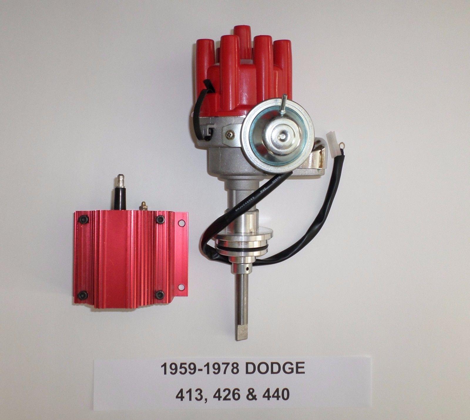 MOPAR 413-426-440 BLACK Ready-To-Run Small Cap HEI Distributor 1959 /& UP