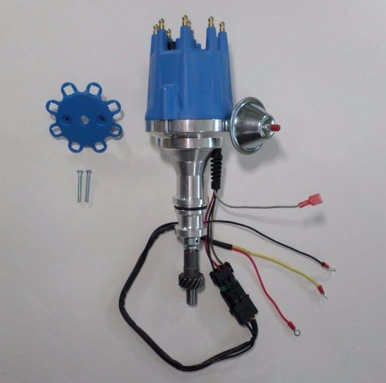 FORD 351 W Windsor Small Cap Pro Series HEI Distributor & 8mm Spark Plug  Wires - SwapMeetPartsSwapMeetParts
