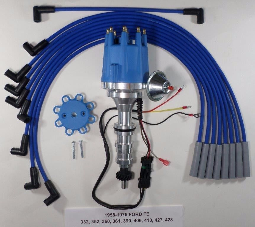 360 ford engine wiring ford fe 352 360 390 427 428 blue small cap hei distributor   spark  ford fe 352 360 390 427 428 blue small