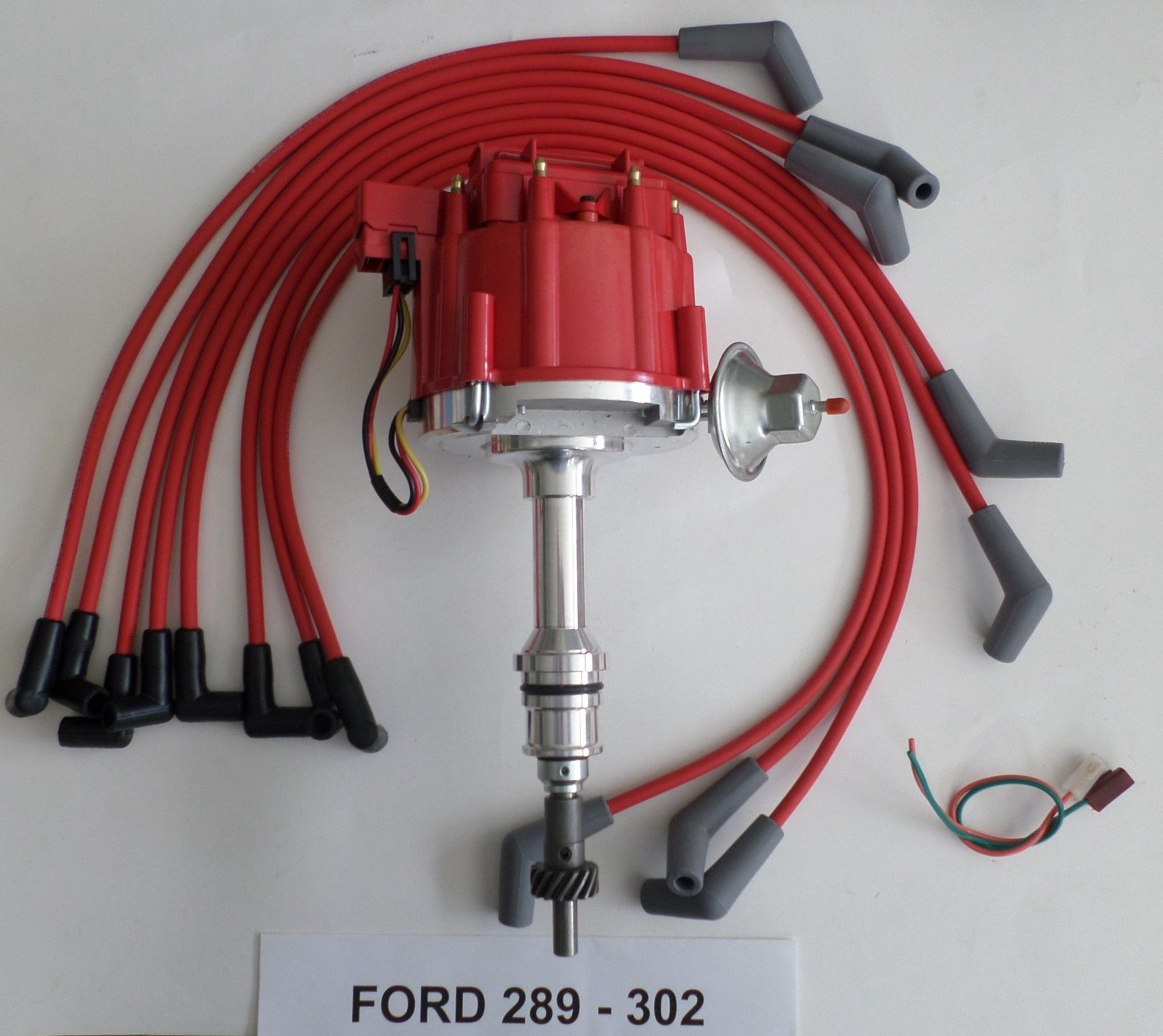 302 red hei distributor spark plug wires usa  🔍  red