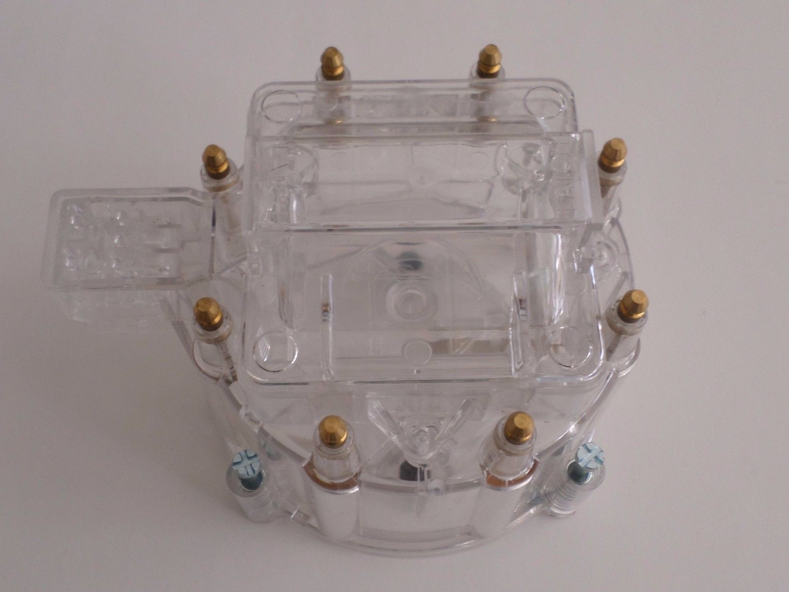 HEI Distributor Cap,Coil Cover Rotor RED CLEAR GM-CHEVY-PONTIAC-OLDSMOBILE-FORD