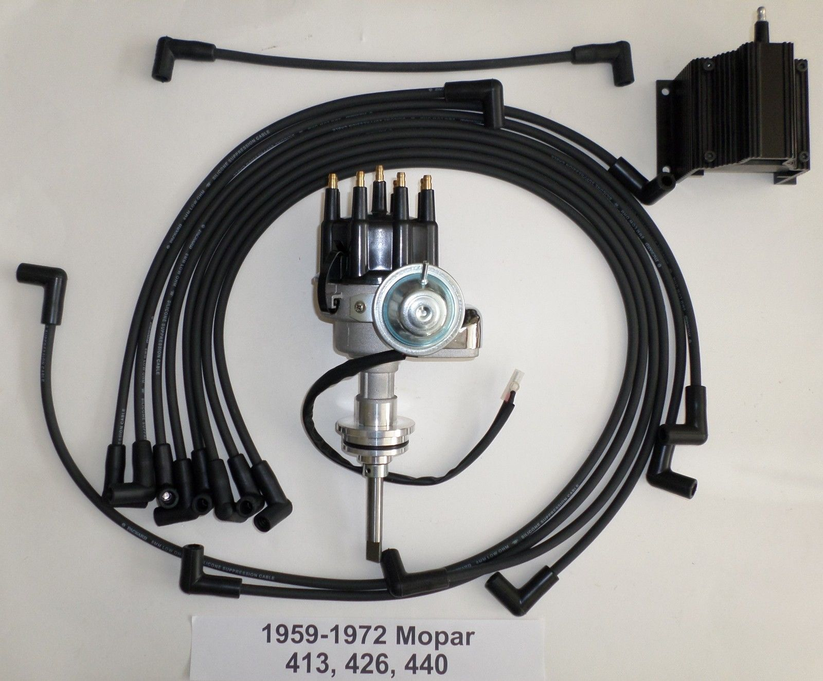 chrysler 440 distributor wiring mopar 413 426 440 black small cap hei distributor  50k coil  mopar 413 426 440 black small cap hei