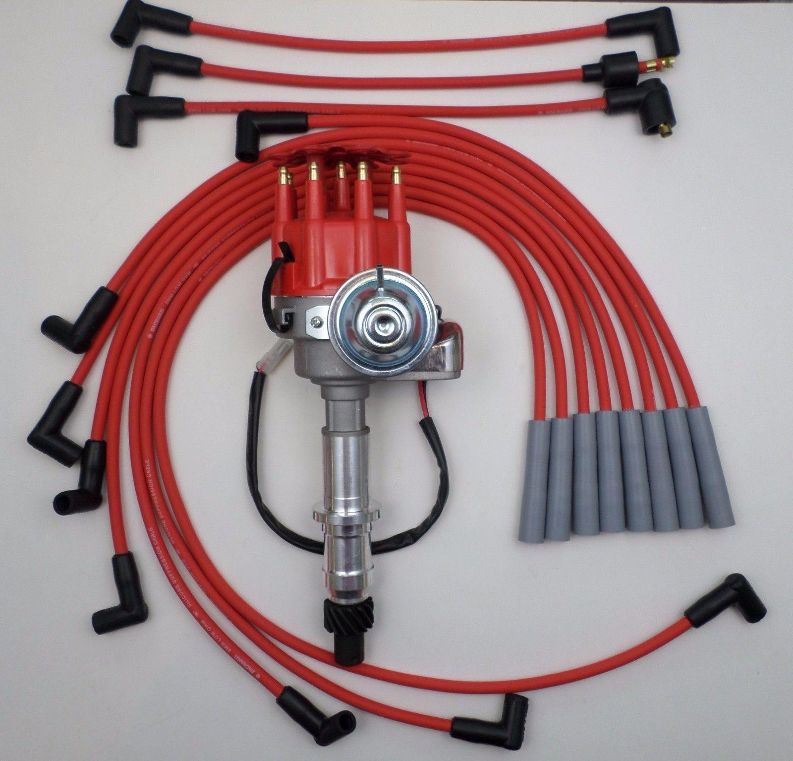 PONTIAC 301, 326, 350, 389, 400, 455 READY-TO-RUN DISTRIBUTOR and Red SPARK  PLUG WIRES - SwapMeetPartsSwapMeetParts