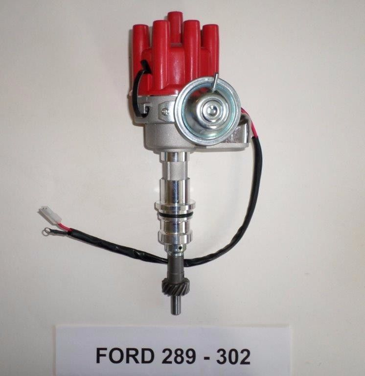 SMALL BLOCK FORD 289-302 RED Small HEI Distributor-Ready to Run-electronic