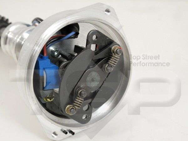 Small Cap CHEVY CORVETTE Tach Drive BLACK HEI Distributor 45k Coil wires  under