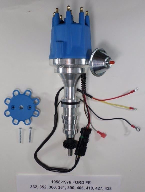 Small Cap FORD FE 352, 390, 427 & 428 BLUE HEI Distributor 45K Coil on