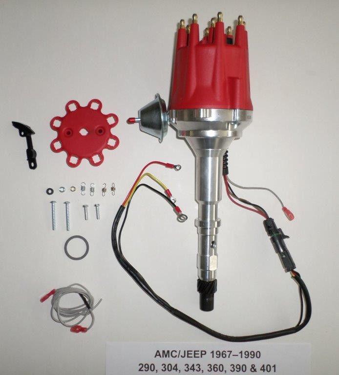[DIAGRAM_5FD]  small cap AMC JEEP 290, 304, 343, 360, 390, 401 HEI Distributor Spark Plug  Wires - SwapMeetParts | 1990 Wrangler Hei Wiring Diagram |  | SwapMeetParts