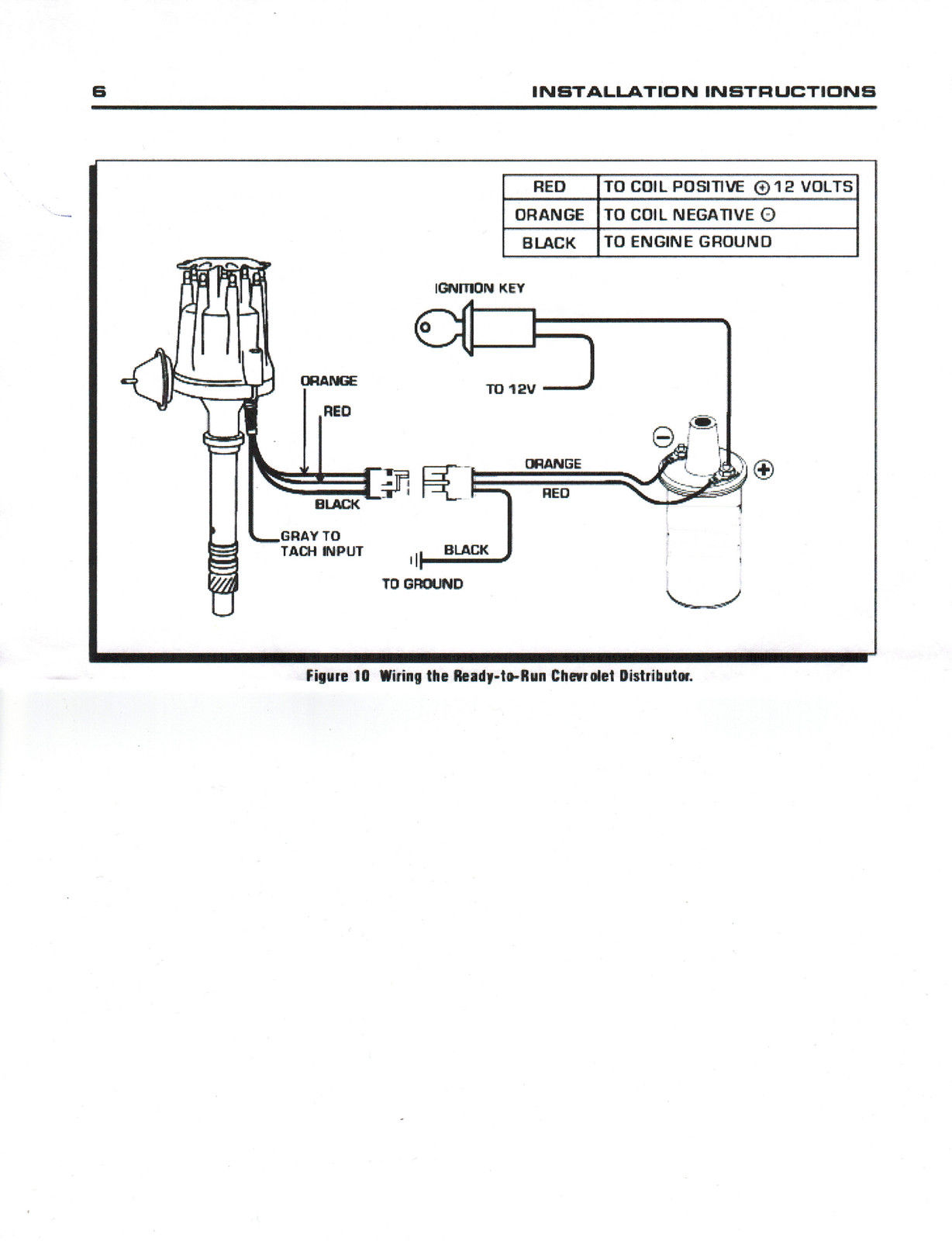 Small Cap Chevy Inline Cylinder Red Hei Distributor Plug Wires on 235 Chevy Electronic Distributor