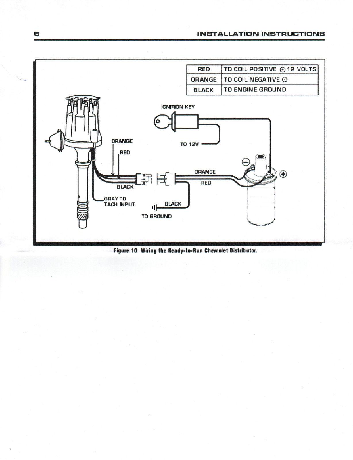 zünd- & glühanlagen black coil small cap chevy inline 6 cylinder 194-235  red hei distributor wires compir  compir