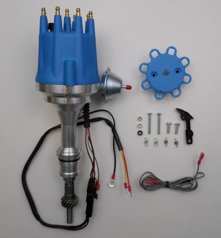 Small Cap Ford 5 0l 302 Efi To Carb Conversion Hei Distributor Chrome 45k Coil Swapmeetparts
